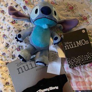 Disney Stitch nuiMOS with a WDW spirit Jersey NWT